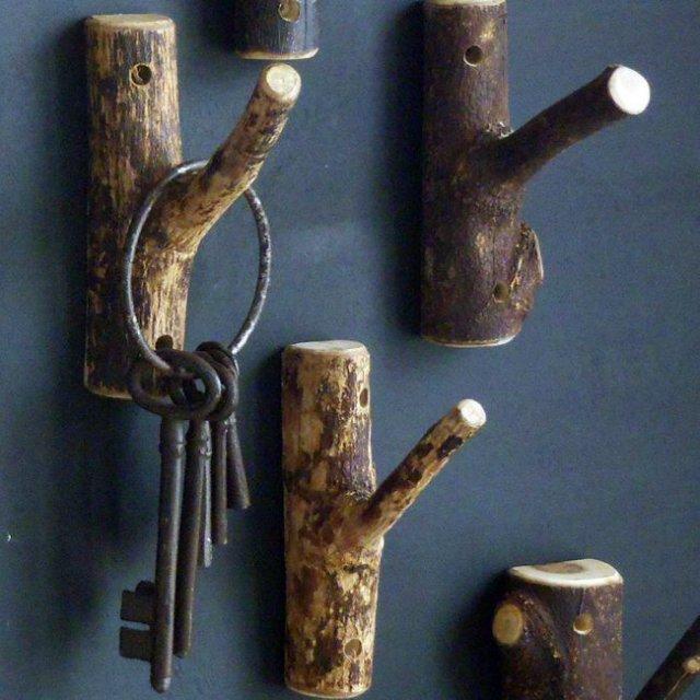 Kulcstartót is készíthetsz faágakból!