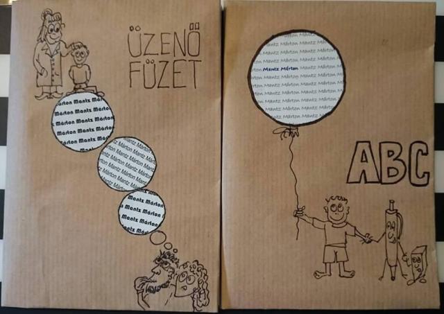 füzetborítás saját rajzokkal, kreatív megoldásokkal