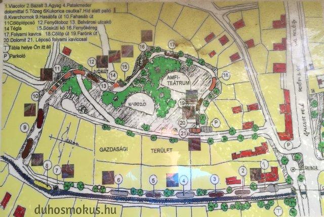 Mezítlábas Park - térkép