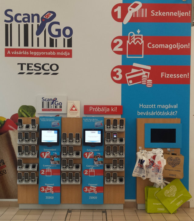 Tesco Scan&Go pult