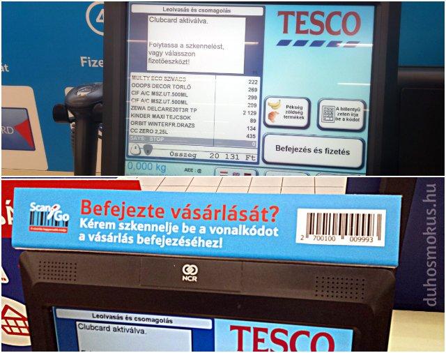 Tesco Scan&Go - fizetés