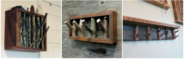 akasztók, fogasok faágakból házilag
