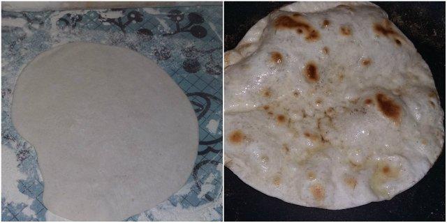 chapati - házilag sütve