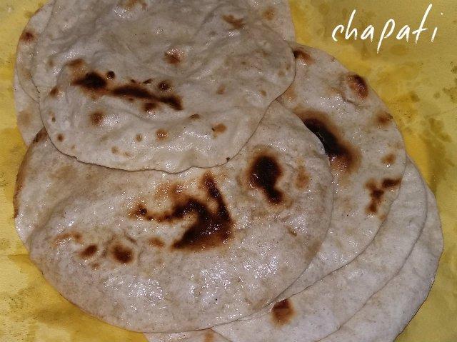 chapati - indiai lepény