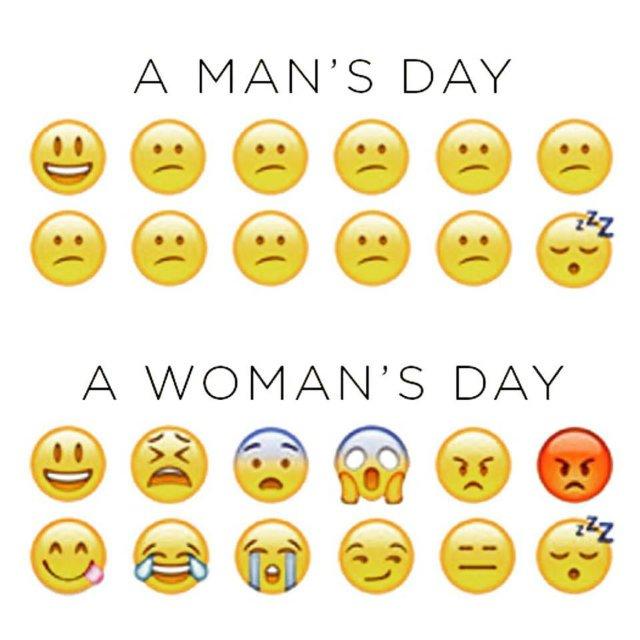 egy férfi és egy nő napja, szmájlikban