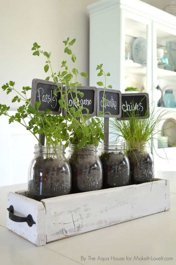 fűszernövények befőttes üvegben