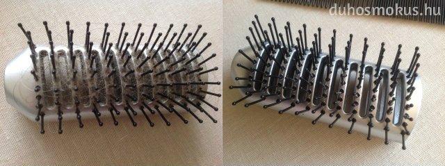 hajkefe tisztítása, fertőtlenítése - előtte-utána fotó